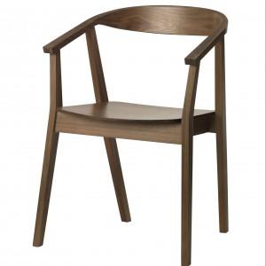 Eleganckie krzesło Stockholm w kolorze orzecha. Projekt: Ola Wihlborg. Fot. Ikea.