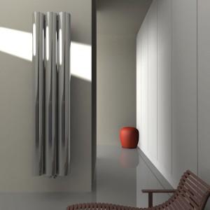 Grzejnik Abig może być wykonany z aluminium polerowanego, satynowego lub lakierowanego na wybrany kolor. Fot. Kalmar.
