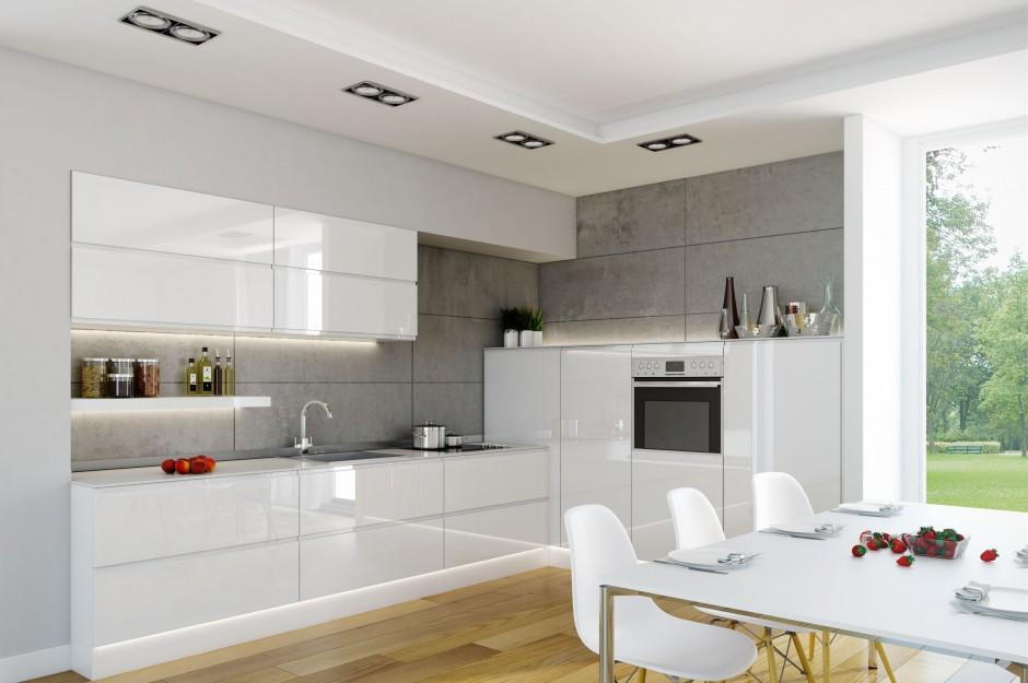 Kuchnia Patrycja  Biała kuchnia 12 najlepszych propozycji  Strona 3 -> Biala Kuchnia Na Wysoki Polysk Z Czarnym Blatem