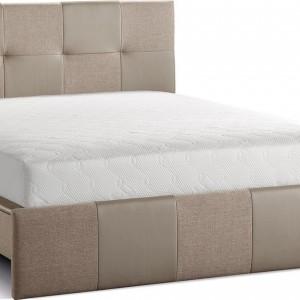 Prosta forma łóżka Modern dobrze sprawdzi się w nowoczesnych wnętrzach. Łóżko dostępne w dwóch wymiarach. Fot. Agata Meble.