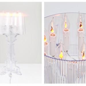 Projektant Eugeni Quitllet klosz lampy Bourgie zamienił w urodzinowy tort umieszczając na nim 10 punktów świetlnych przypominających świeczki. Proj. Eugeni QuitlletFot.Kartell.