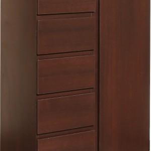 Duża ilość szuflad i półek w komodzie z kolekcji Pello zdyscyplinuje do dbania o porządek w miejscu pracy. Fot. Meble Wójcik.