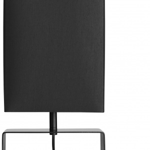 Czarna lampa Quadro single o prostej, minimalistycznej formie. Cena 439 zł. Fot.BoConcept.