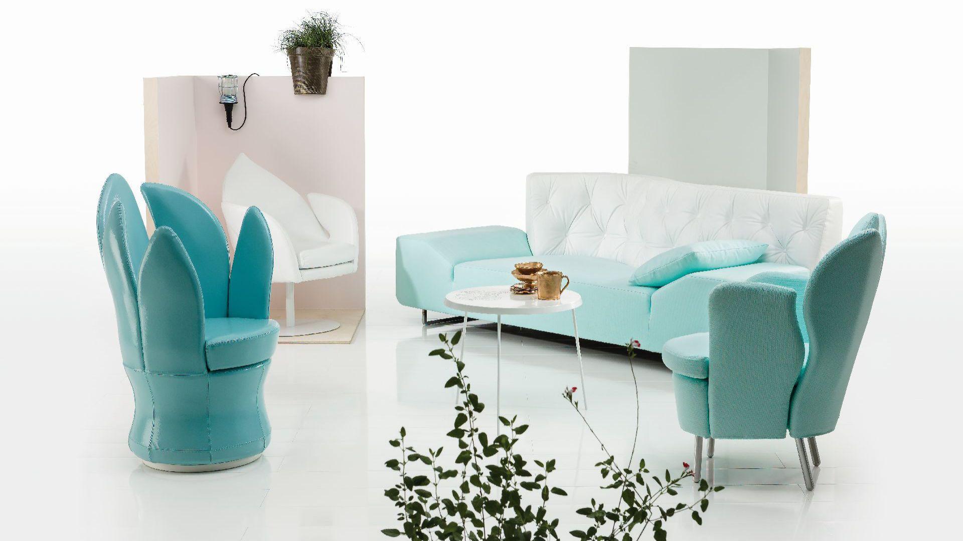 Meble projektu Kati Meyer-Bruhl to lekka i subtelna forma przyodziana w piękne kolory i tkaniny. Fot. Brühl.