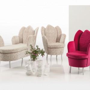Fotele z sofki z kolekcji Morning Dew - zdobywcy wielu międzynarodowych nagród z dziedziny designu. Fot. Brühl.