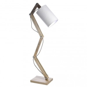 Popularny model lampy od Madam Stoltz. Lampa posiada regulowaną bazę wykonaną z naturalnego drewna oraz prosty, podłużny klosz w białym kolorze. Produkt z Danii. Cena: 1.178 zł, sprzedaż:  Aga Martin.