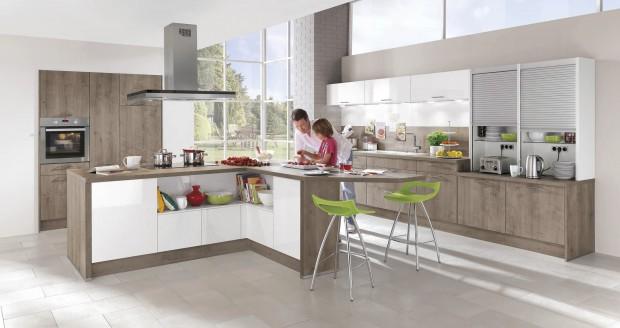 Nowoczesna stylowa kontrasty w kuchni 10 pomys w for Cuisine 7m2 avec ilot