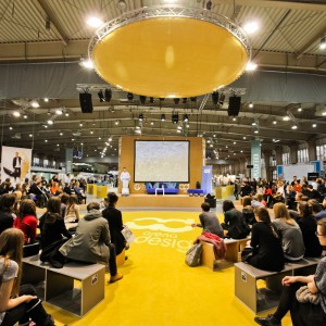 Kaspar Guldager Jorgensen na scenie arena design. Fot. materiały organizatora.