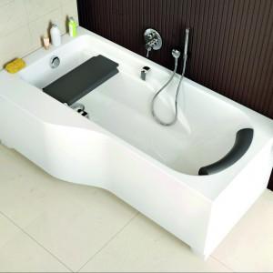 Wanna asymetryczna Comfort Plus 170x75cm z uchwytami, zagłówkiem i siedziskiem. 2.733 zł, Koło Sanitec