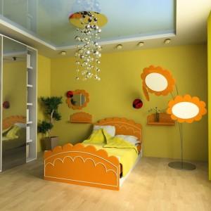 Kolor słońca w pokoju dziecka. Meble i akcesoria