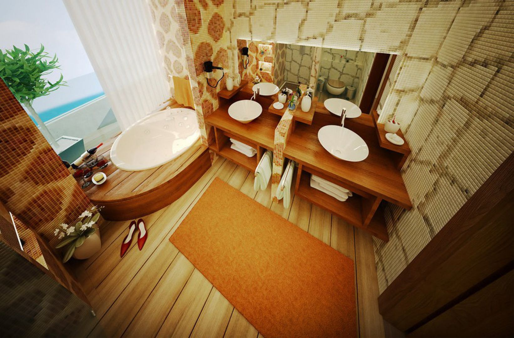 Blat drewniany. Fot. Home Designing.