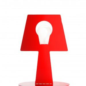 Lampa nocna  Bendino wykonana ze stali, dostępna w czterech kolorach. Wysokość  25 cm. Proj.Martin Konrad Gloeckle. Fot. Pulpo.