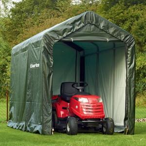 Wodoodporny namiot, który może być miejscem do przechowywania cięższego sprzętu. Clarke CIS612.