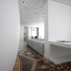 Widok na część dzienną apartamentu. Fot. Marcel Wanders Interiors.