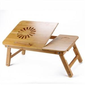 Drewniana podstawka, idealna do pracy na leżąco. Produkt dostępny na Aliexpress.