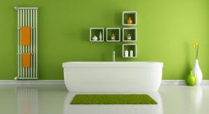 Kolor zielony koi zmysły, wpływa odprężająco. Łazienka to miejsce, w którym chętnie się relaksujemy, dlatego dobrym pomysłem jest wprowadzenie do pomieszczenia motywów w tej barwie.