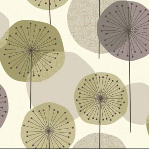 Tapeta Eco w nowoczesnym, kwiecistym wzorem. Fot. Revival Wallpaper.