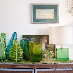 Różne odcienie zieleni w dodatkach. Fot. Zara Home.