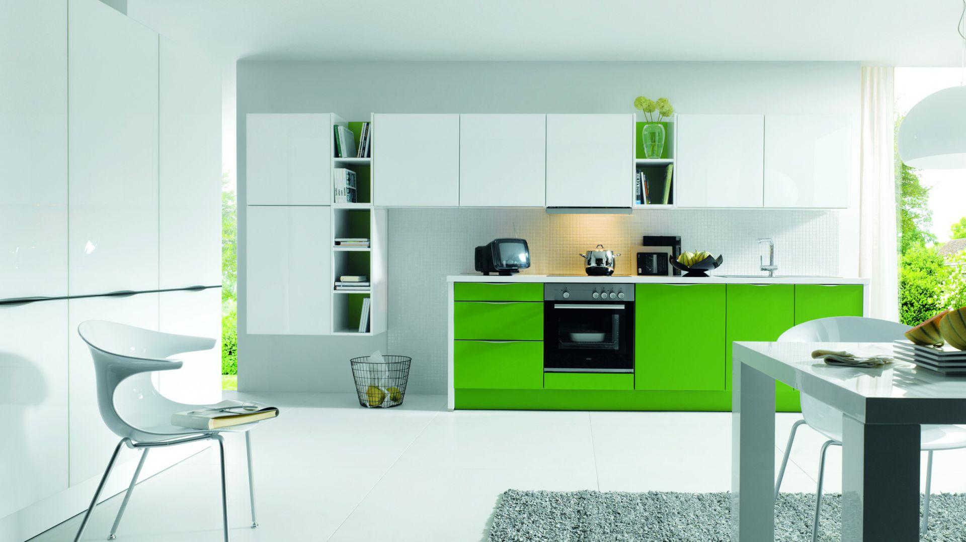 Nowoczesne, funkcjonalne 15 pomysłów na zieloną   -> Kuchnia Zielone Kafelki
