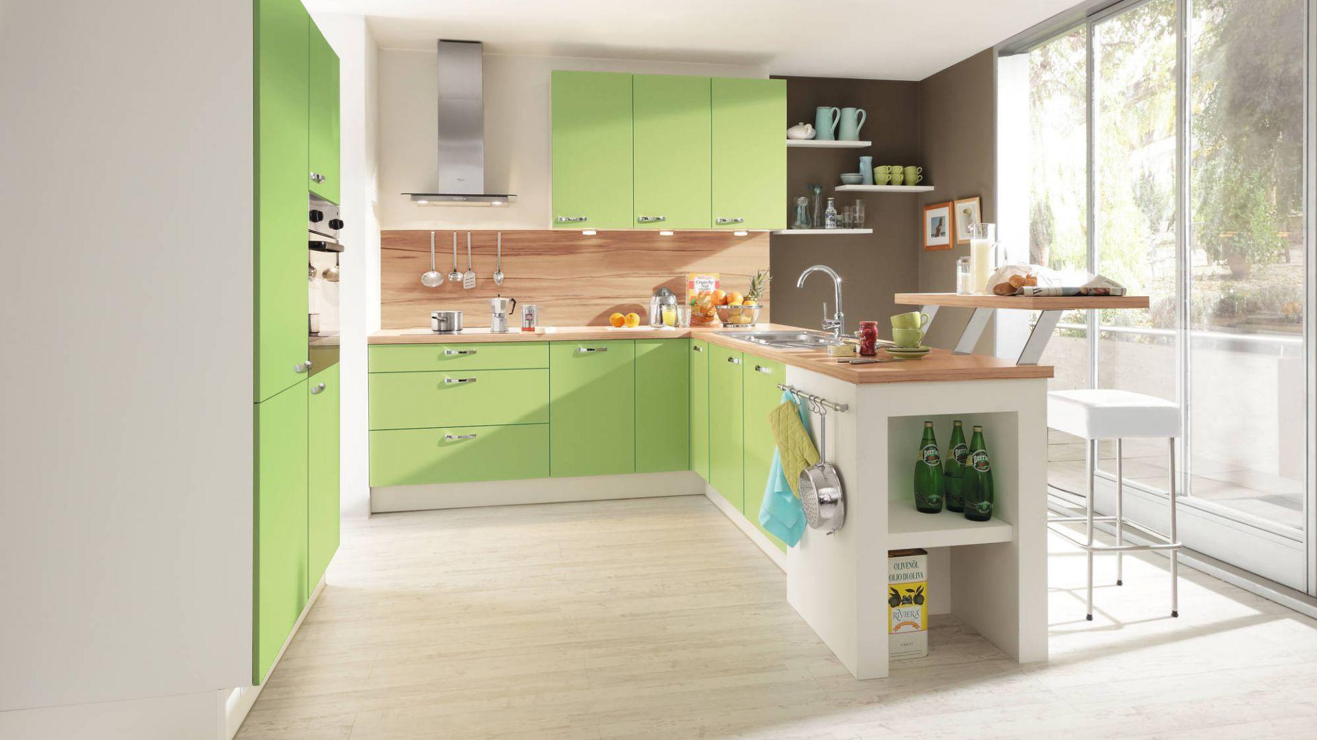 Meble kuchenne z programu 15 pomysłów na zieloną   -> Kuchnia Zielone Kafelki