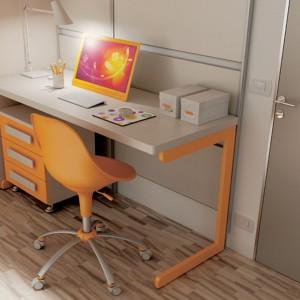 Nowoczesne połączenie pomarańczu z bielą. Fot. Moretti Compact.