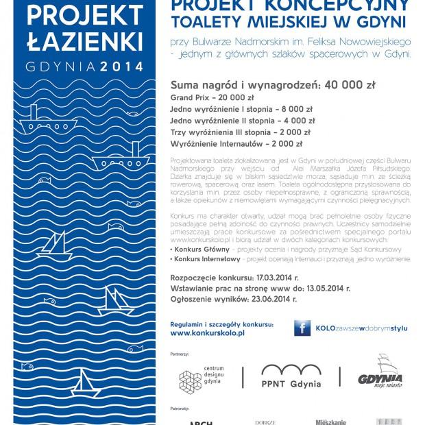 """Gdynia i Sanitec Koło ogłaszają konkurs """"Projekt Łazienki 2014"""""""