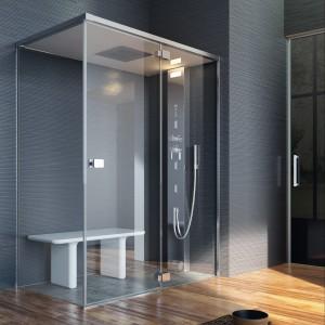 Kabina Noor Steam z panelem prysznicowym; materiał: szkło hartowane. Od 23.163 zł, GLASS