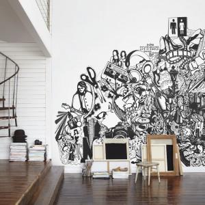 """Trend """"Murale"""". Aranżacja z tapetą marki Mr Perswall. Fot. Mr perswall."""