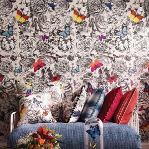 "Trend ""Entomologia"". Motyle w akcji - najnowsza kolekcja marki Osborne & Little na 2014 rok. Fot. Osborne&Little."