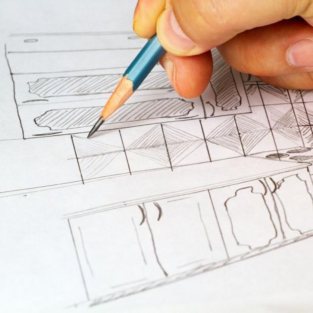 Konkurs dla architektów - kreacja w ciemnych kolorach