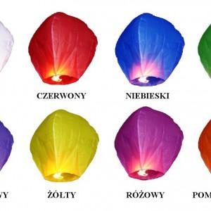 Lampiony szczęścia latające latarnie  10szt mix kolorów 33,63 zł, Art-Kart