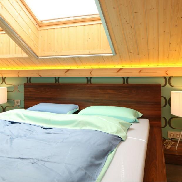 Przytulna sypialnia na poddaszu