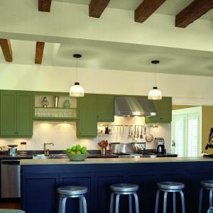 Farba Platinum Plus 4200 Kitchen&Bath zawiera ceramiczne mikrokuleczki, które tworzą na powierzchni ściany cienką powłokę. Mikrokuleczki uszczelniają strukturę farby, czyniąc ją bardziej ścisłą. Ściana jest twardsza i odporniejsza na wnikanie brudu, kurzu i zanieczyszczeń. Wydajność: 12 m²/l. Od 62 zł/l, Para/salony Dekorian.
