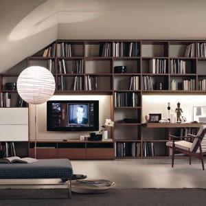 Dekoracyjna i praktyczna koncepcja biblioteczki. Fot. Lema.