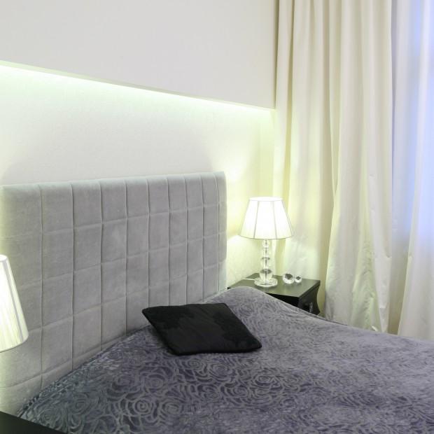 Oświetlenie LED w sypialni