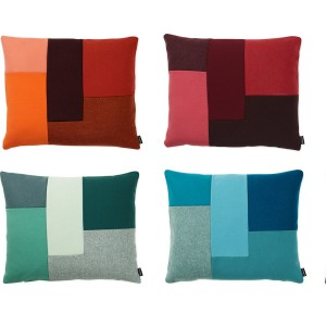 Poduszki Brick dostępne w wielu kolorach. Fot.Normann Copenhagen.
