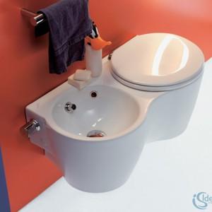 Ideal Standard Small, miska WC podwieszana Twin ze zintegrowanym bidetem.