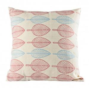 Lniana poduszka różowo - niebieska z kolekcji Pastelove. Fot.Empik.