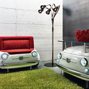 Lapo Elkam zaprojektował sofę Fiat 500 dla włoskiej marki Meritalia. Fot. Meritalia Fiat 500 Design Collection.