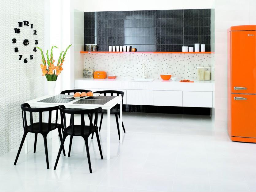 Silvia/Silvio to jedna kolekcja przygotowana tak, aby tworzyć wnętrza zróżnych światów. Pierwszy jest harmonijny ispokojny, udekorowany romantycznym kwiatowym wzorem. Drugi będzie idealny dla pasjonatów nowoczesnego, minimalistycznego stylu, bo przepełniony jest geometrycznymi wzorami iponadczasową kolorystyką Bianco i Grafit. 67,65 zł/m², Grupa Paradyż.