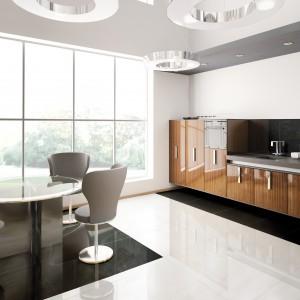 Kolekcja Super Black&White idealnie wkomponuje się w kuchnie urządzone w prostym, minimalistycznym stylu. Wielkoformatowa terakota (60x60 cm) wprowadzi do pomieszczenia równowagę i ład. 92 zł/m² (Super Black), 138 zł/m² (Super White), Ceramstic.