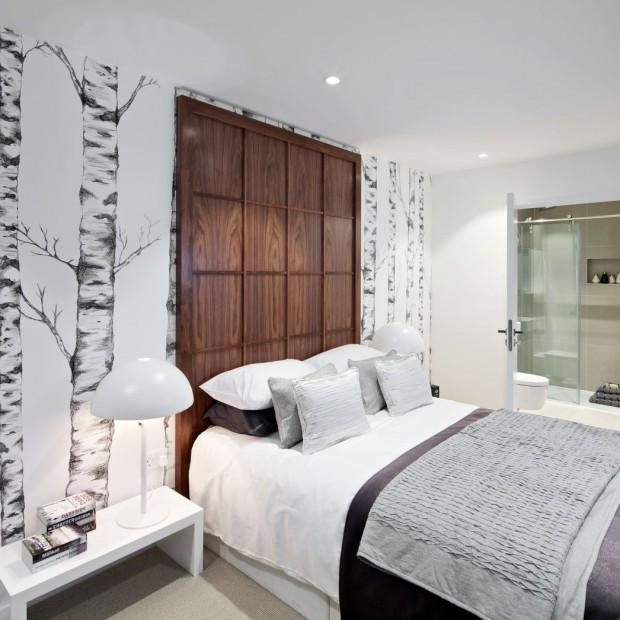 Ściana za łóżkiem: 10 pomysłów na aranżację