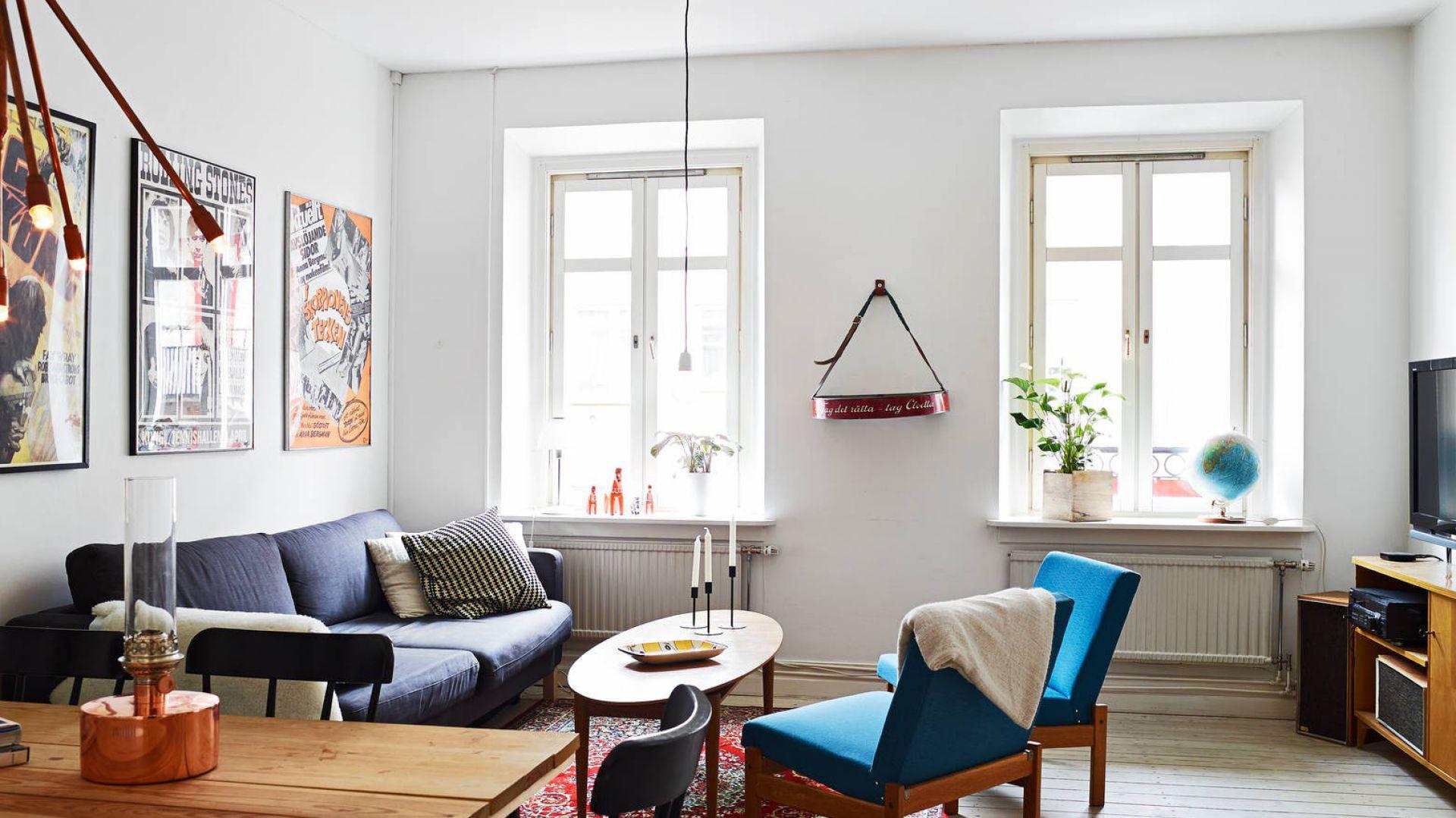 0 Pokój dzienny jest jasny, przestronny i pełen światła. Fot. Stadshem.