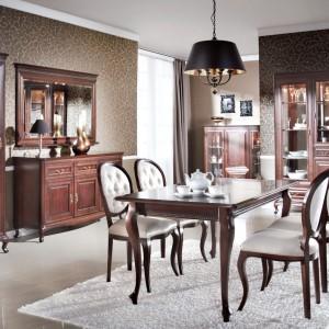 Meble do jadalni z kolekcji Verona. Stylizowane i nadające przestrzeni elegancki klimat. Wycena indywidualna, Meble Taranko.