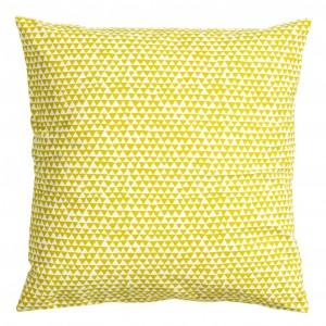 Bawełniana, żółta poszewka. Fot.H&M Home.