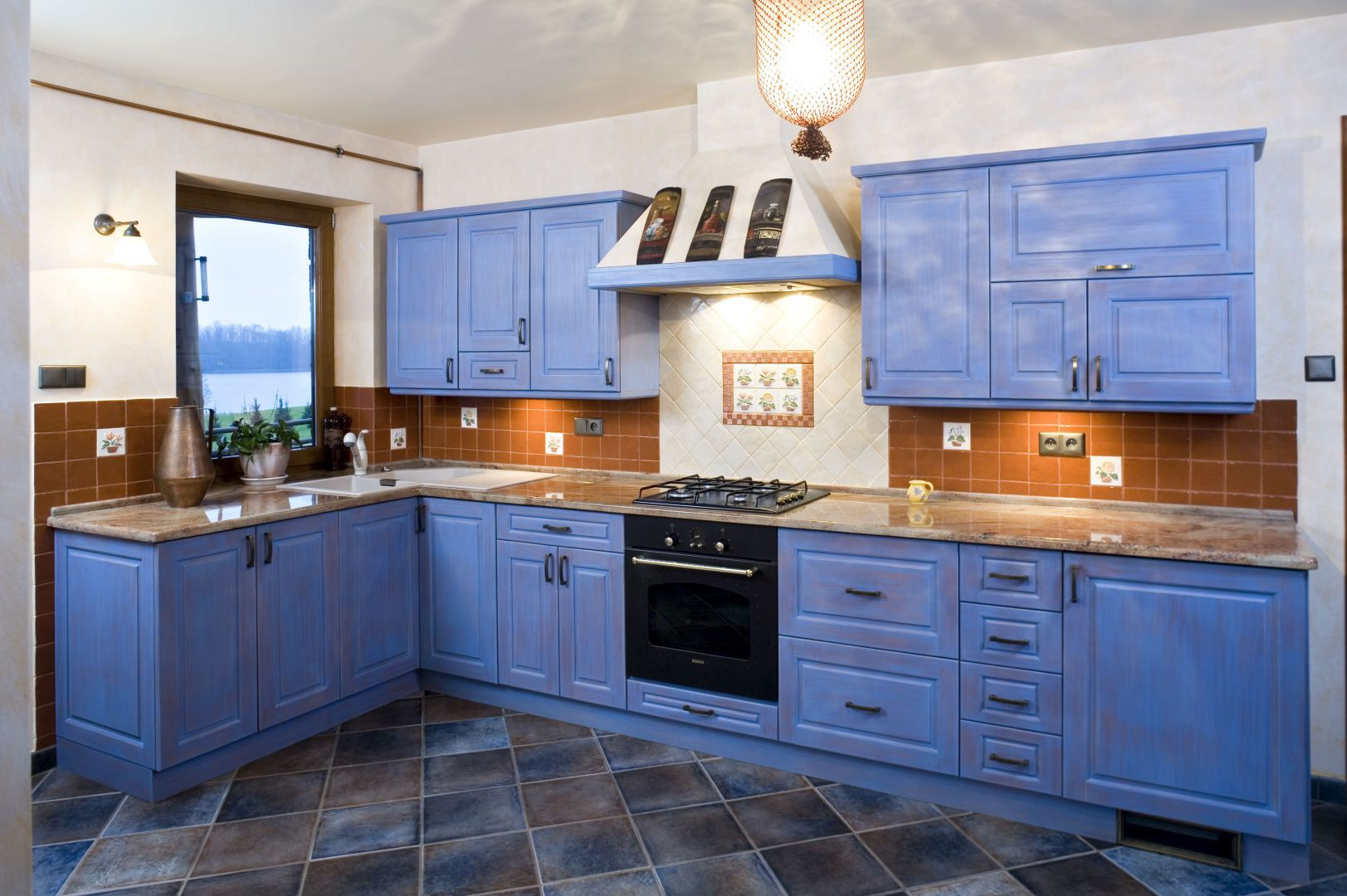 Kuchnia w drewnianym domu Najciekawsze pomysły   -> Kuchnia W Kolorze Niebieskim