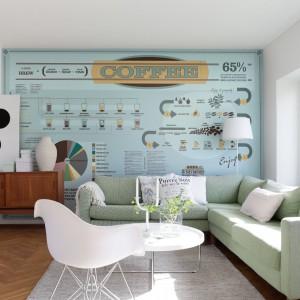 Ściana w stylu retro: fototapeta Interractions marki Mr Perswall. Fot. Mr Perswall.