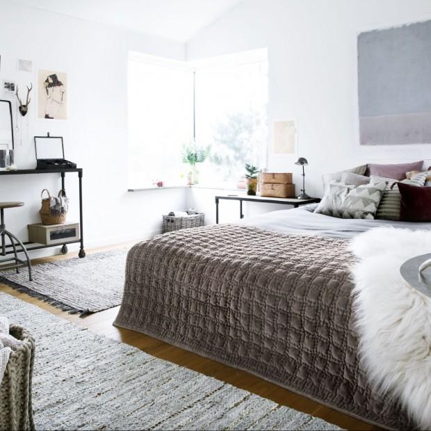 Sypialnia w stylu vintage
