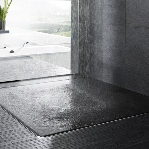 Odwodnienie prysznicowe w kształcie litery U. Fot. Viega.