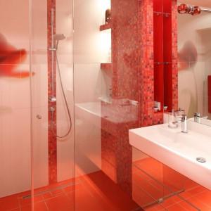 Kolejna funkcja mozaiki – nadanie dyskretnego charakteru półce łazienkowej. Fot. Bartosz Jarosz.